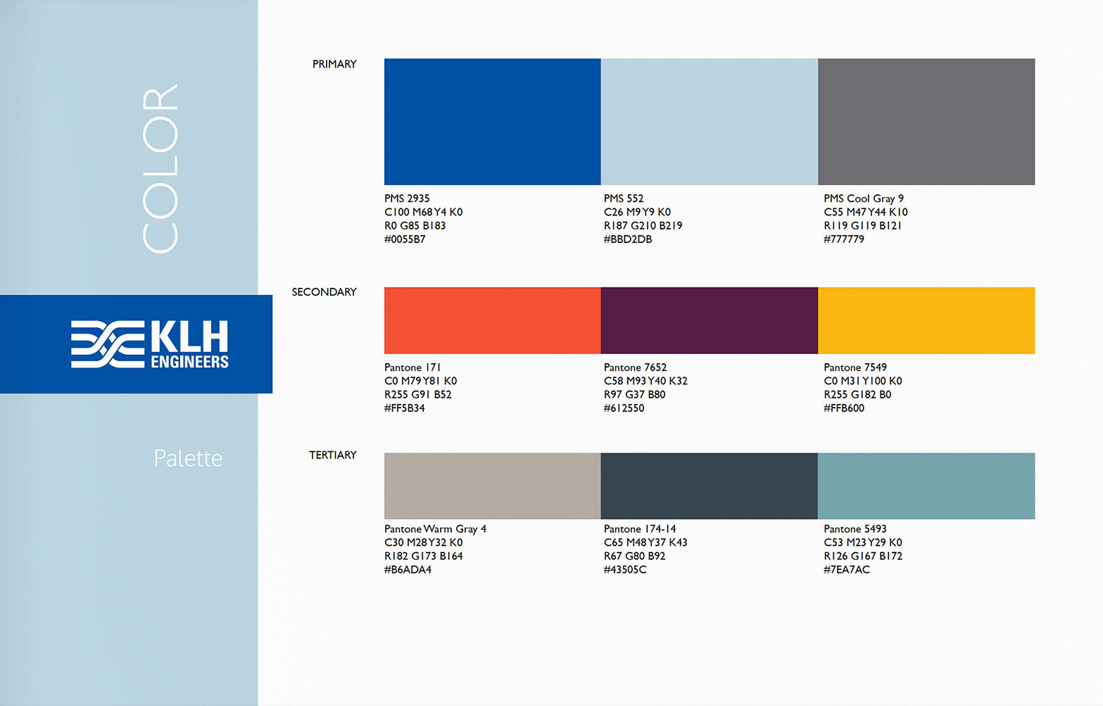 Color - KLH Engineers Brand Guidelines