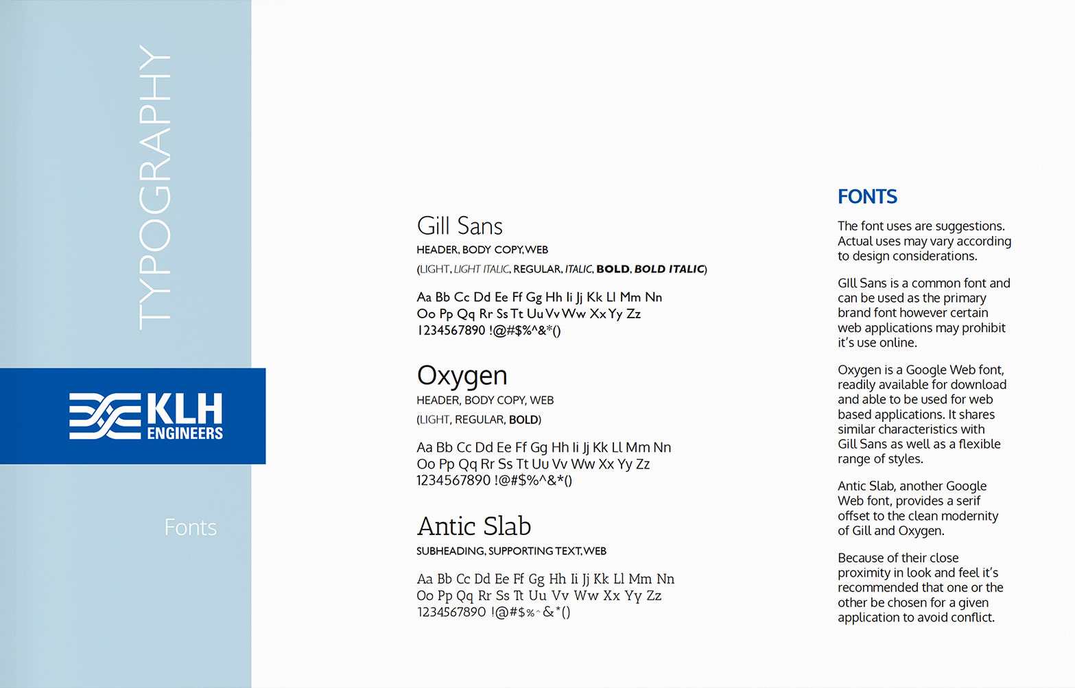 Typography - KLH Engineers Brand Guidelines
