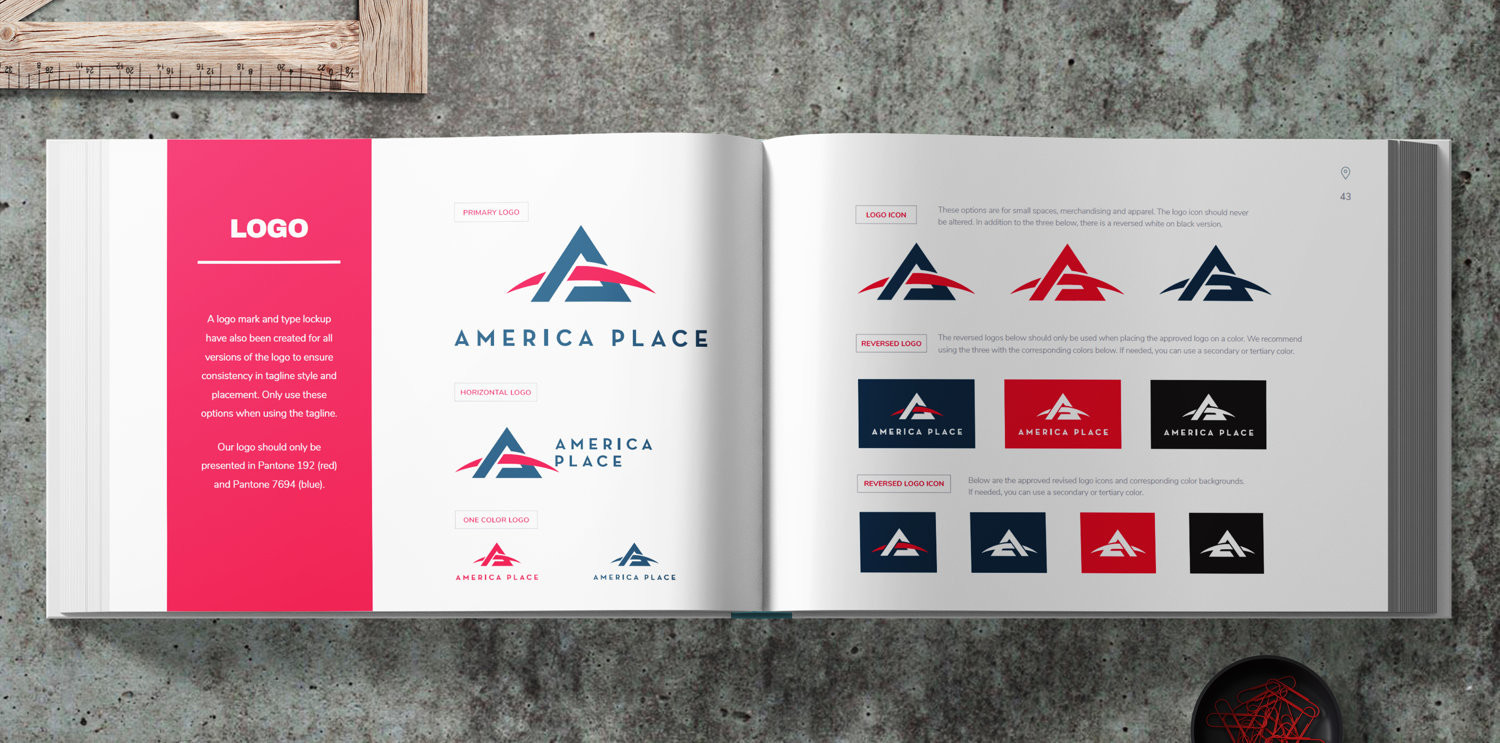 America Place branding booklet