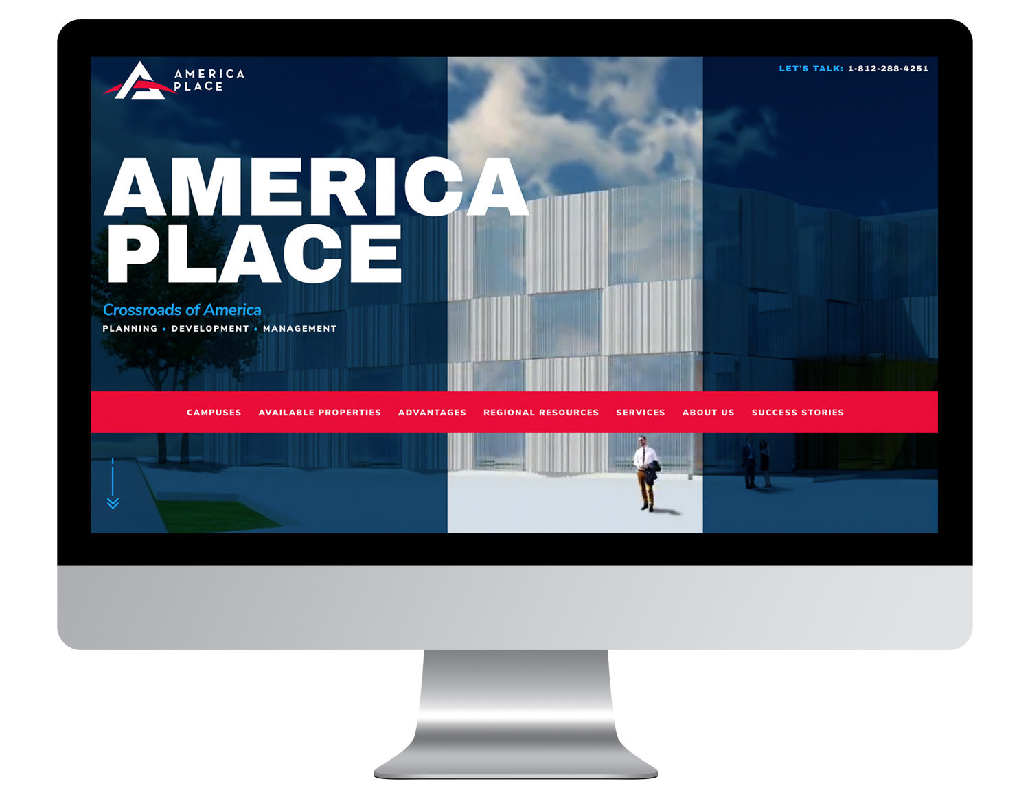 America Place homepage view